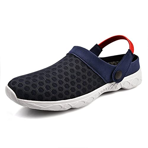Men's Mesh Slippers Clogs Water Shoes Beach Sandals Lightweight Breathable