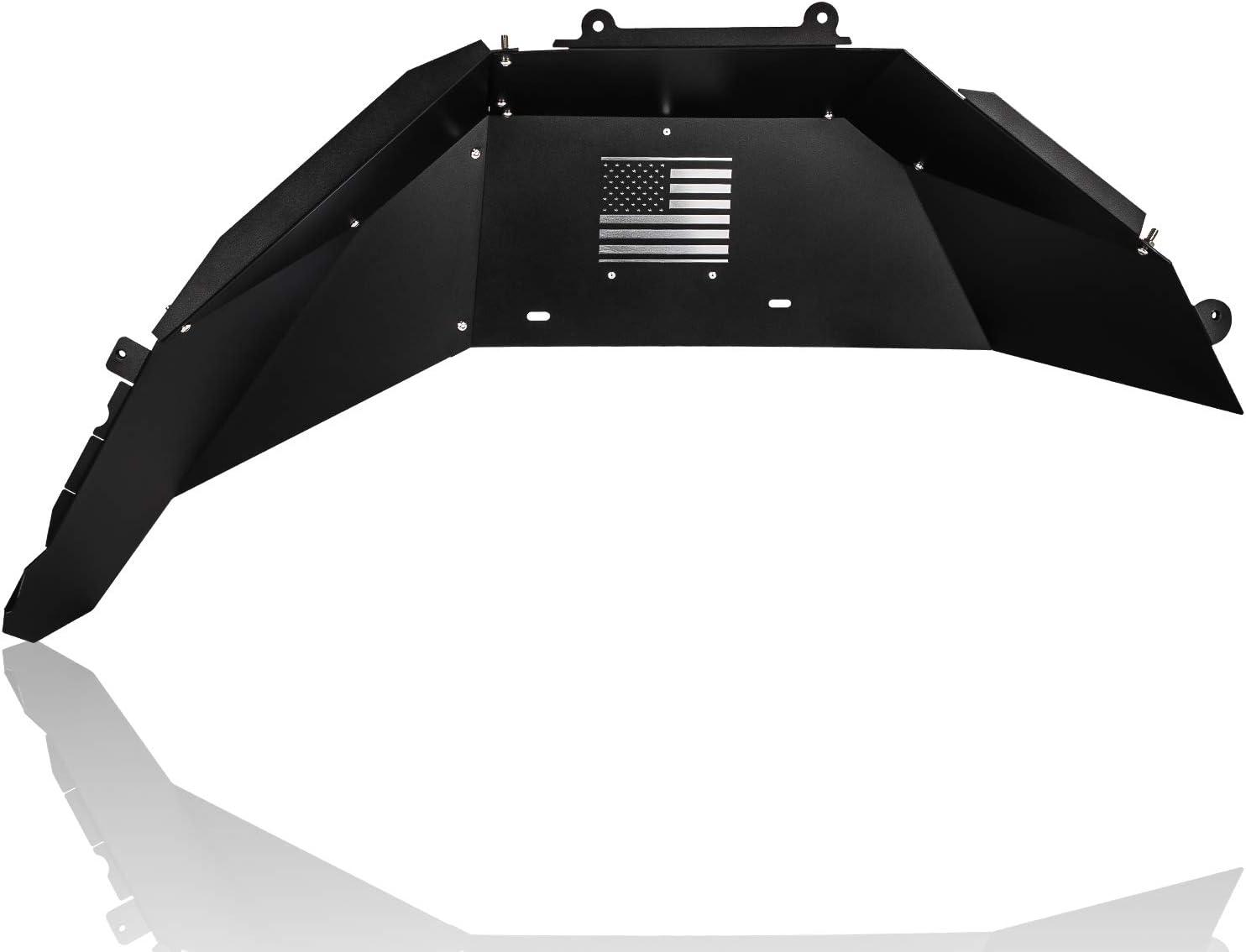 2PCs Rear Inner Fenders Liner Kit Fender Flares Protector with US Flag Custom Fit for Jeep Wrangler JL 2018-2020 4WD