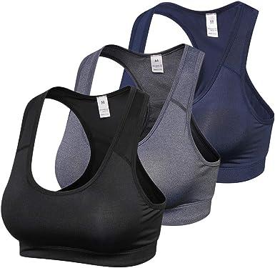 Explopur Sujetador Deportivo para Mujer - Pack de 3 Sujetadores Acolchados Gym Fitness Running: Amazon.es: Ropa y accesorios