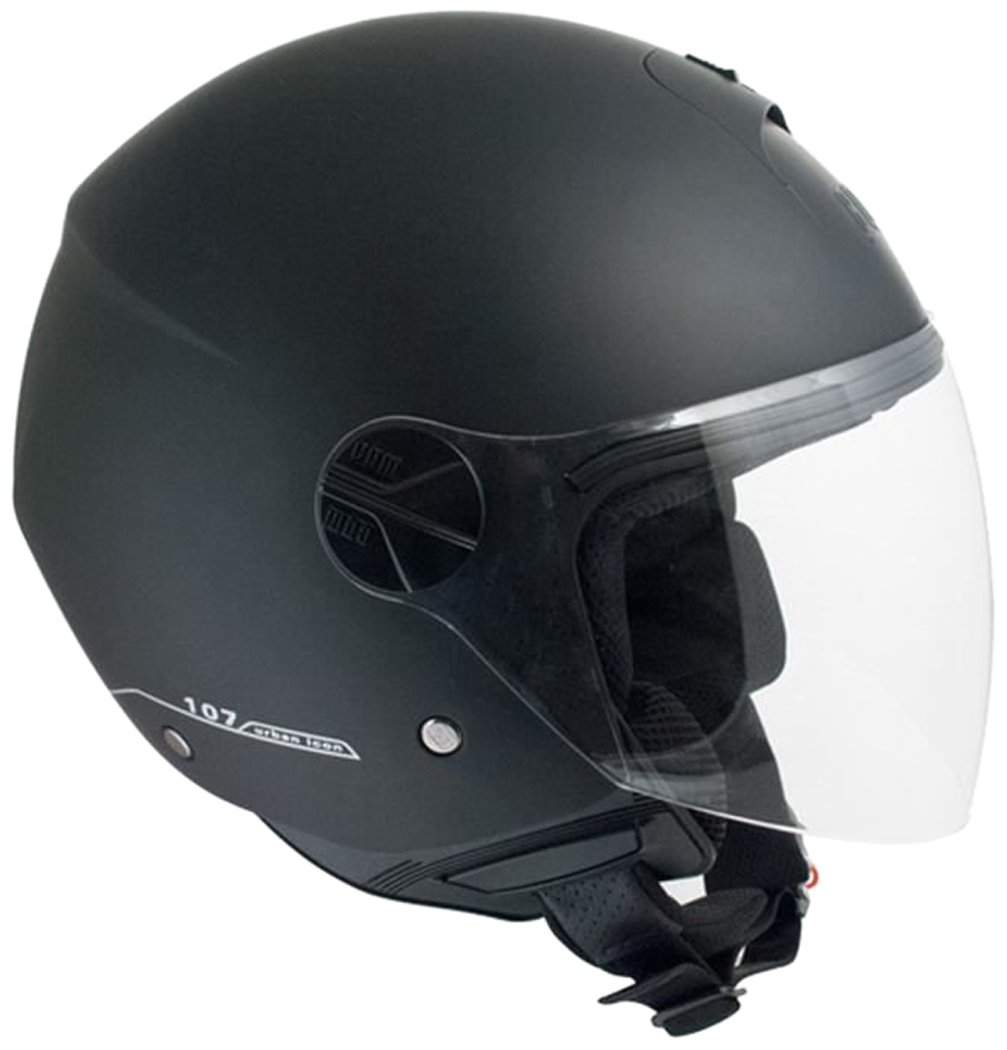 CGM Casque Jet 107A Florence, Noir Mat, Taille M CGMJ107AFSAFLORNM