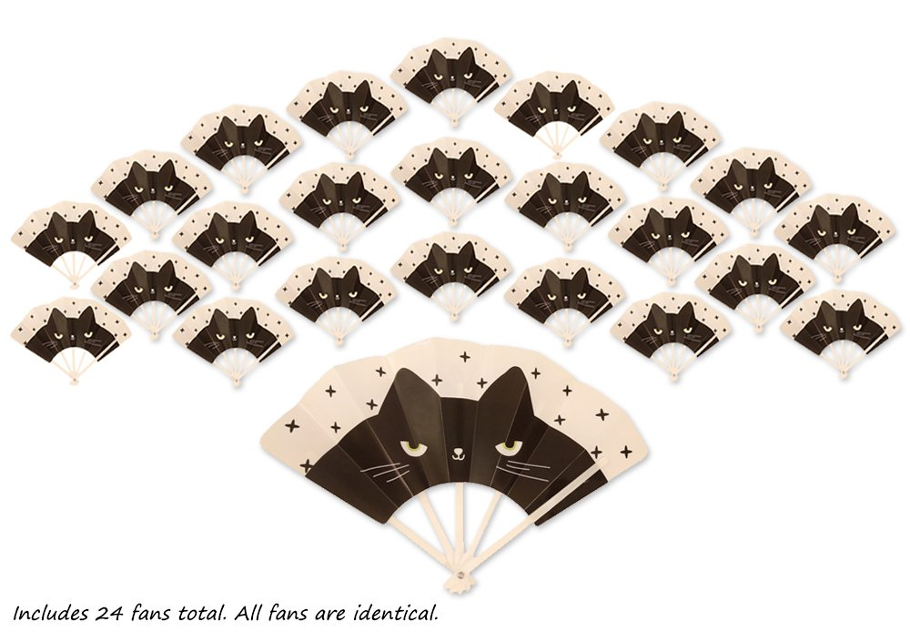 Safe; Folding Fan Toys Boys Girls Hand Fans Toddler Birthday Party Favors for Kids; Mixed 24ct Fun