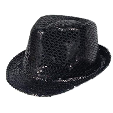 492194702 Unisex Michael Jackson Silver Sequin Glove + Capone Party Trilby ...