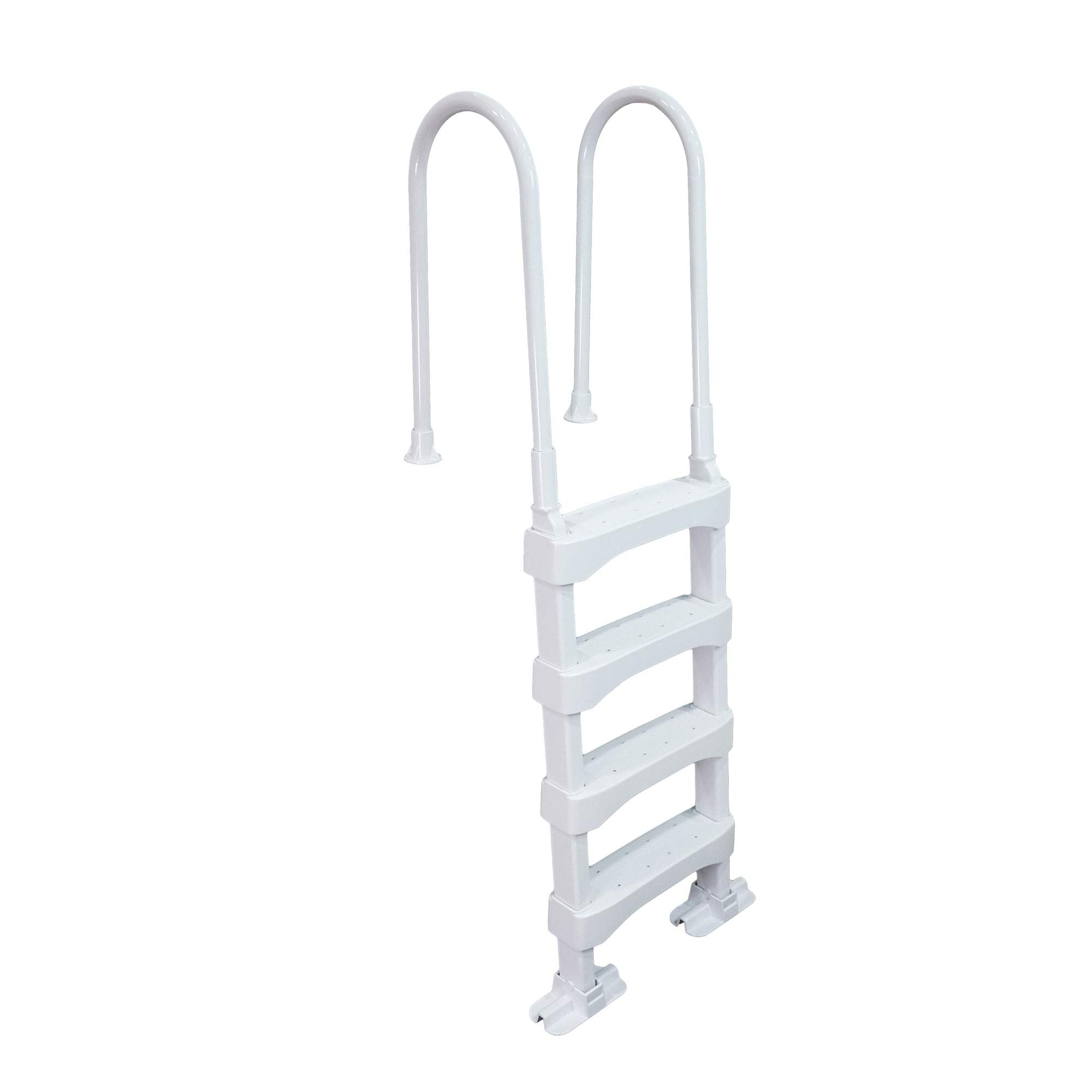 Vinyl Works SLD2 In-Pool 4 Step Ladder for 60 Inch Swimming Pool Walls, White by Vinyl Works