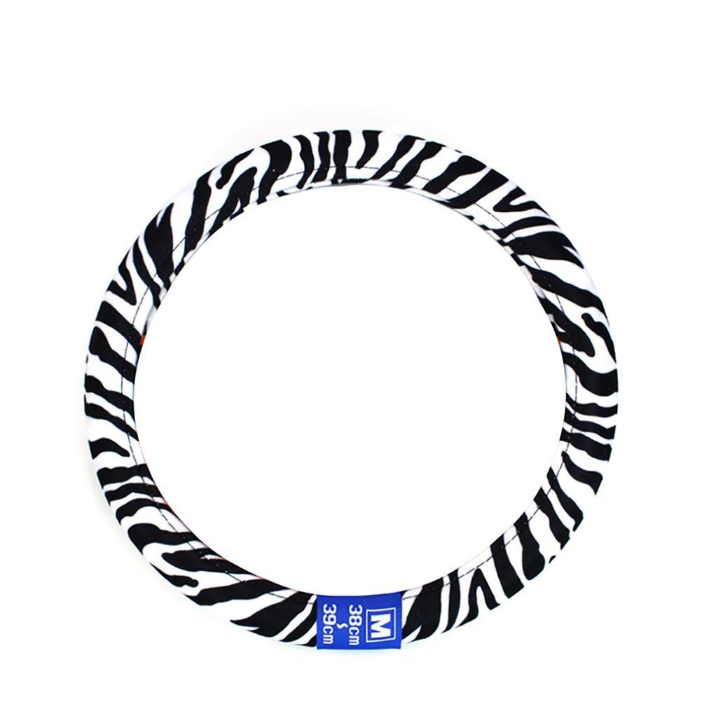 LIYUU Couverture de Volant de Voiture Peluche Zebra Stripe