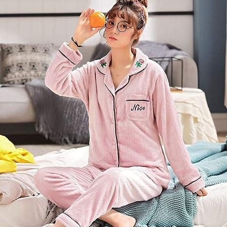 Bayrick Pijamas Mujer Invierno Enteros,Pijama de Terciopelo ...