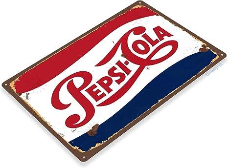 Pepsi Cola Cold Metal Decor Wall Art Soda Shop Store Kitchen Sign