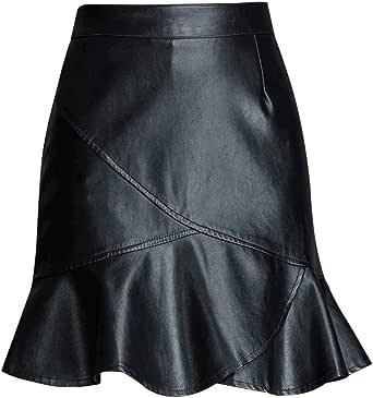 Quge Mujeres Falda Corta Cintura Alta Bodycon Tubo Mini Faldas De ...