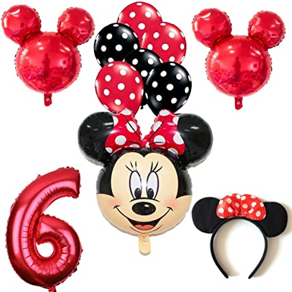 Amazon.com: CuteTrees Minnie Mouse - Juego de globos de 6º ...