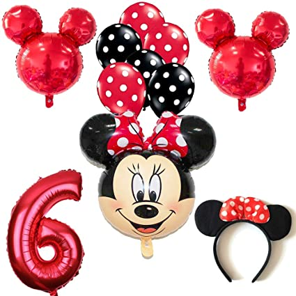 Amazon.com: CuteTrees Minnie Mouse - Juego de globos de 6º ...