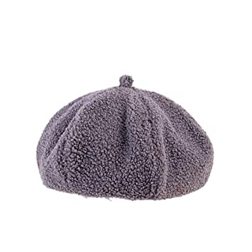 736b42c502952 Amazon.com  Fheaven (TM) Women Outdoor Leisure Beret Hat -Winter  Lightweight Warm -French Beret (Grey)  Beauty