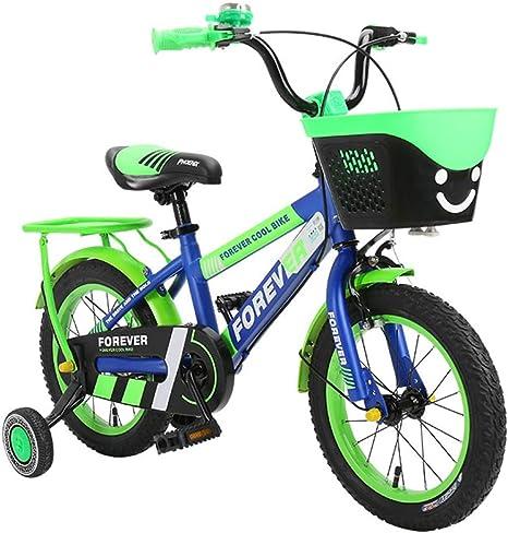 Axdwfd Infantiles Bicicletas Bicicleta para niños con Ruedas y canas de Entrenamiento, Bicicleta para niños y niñas de 12