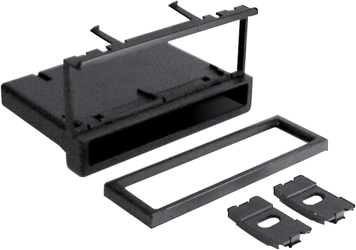 Scosche FD1327B Compatible with 1995-07 Ford / Lincoln / Mercury / Mazda DIN w/Molded Pocket Dash Kit Black