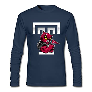 05504afb Long Sleeve Man's Temple Owls Mascot T Shirts T Shirts 80s Funny O-Neck