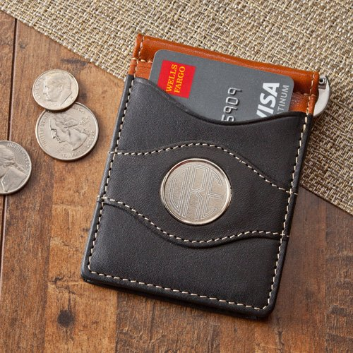 Personalized Two-Toned Leather Wallet Monogram