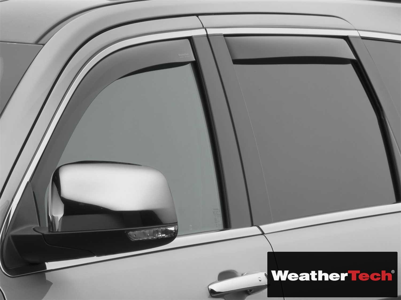 Weathertech Side Window Deflectors >> Weathertech Wea110549 Hr Side Window Deflector Visor Rainguard 4 Pc Dark Tint Compatible For Jeep Grand Cherokee