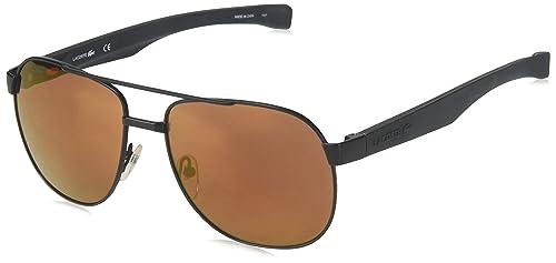 Amazon.com: Lacoste de los hombres l186s Aviator anteojos de ...