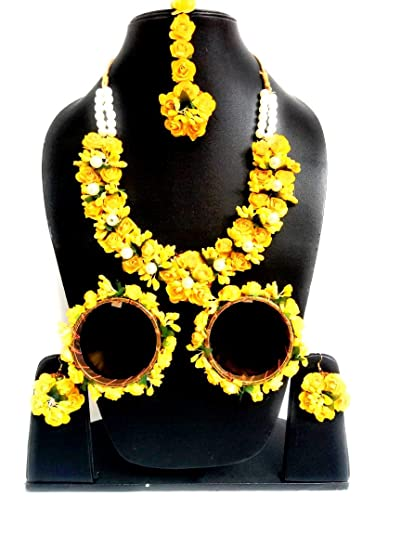Buy Vmn2 Beautiful Foam Yellow Rose Floral Jewelry Set With