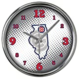 MLB Chicago Cubs MLB-Ccu-2238Chrome Clock - State of Mind Style, Multi, One Size