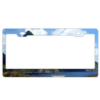 Sky Blue Plastic License Plate Frame