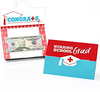product image for Big Dot of Happiness Nurse Graduation - Medical Nursing Graduation Party Money and Gift Card Holders - Set of 8