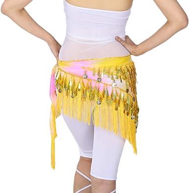Falda de Cadera Bufanda de Cintura con Lentejuelas Forma de Gota ...