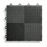 BlockTile B2US4230 Deck and Patio Flooring Interlocking Tiles Perforated Pack, Black, 30-Pack