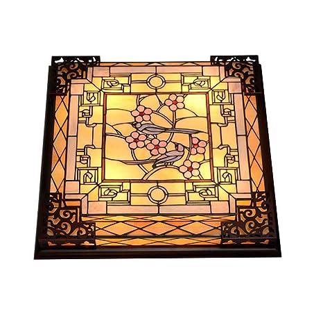 GAOLIQIN 25-Inch LED Tiffany Style luz de Techo Artesanal ...