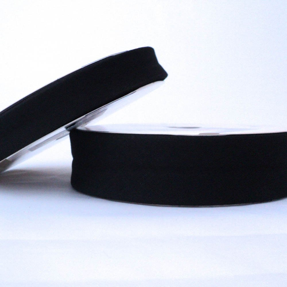 30mm Plain Bias Binding Tape Black Higgs /& Higgs