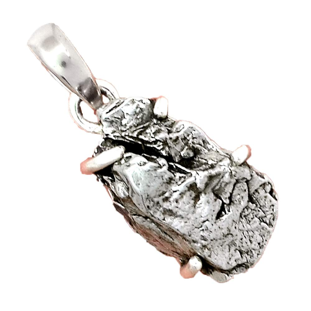 AP6353 27.3 mm Genuine METEORITE CAMPO DEL CIELO Pendant 925 Sterling Silver