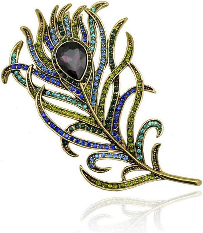 Ogquaton Broche en cristal de plumes de paon /Épingles en /émail Boho V/êtements Accessoires Nouveau paru