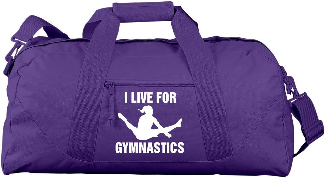 I Live For Gymnastics Liberty Large Square Duffel Bag