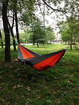 Afranker Portable Nylon Fabric Travel Camping Hammock