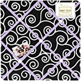 Purple and Black Kaylee Fabric Memory/Memo Photo Bulletin Board by Sweet Jojo Designs