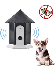 Anti Barking Device, Aolvo 2018 Upgraded Ultrasonic Bark Control Training Tool, No Barking, Bark Stopper, Pavilion Shape, Safe for Small/Medium/Large Dogs Outdoor Use, up to 50 Feet Range - Black