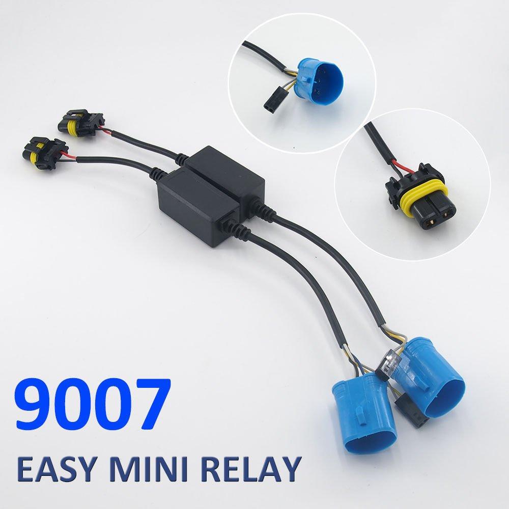 Amazon.com: Autolizer Easy Relay Harness 9007 (9004 HB1 HB5) Bi-Xenon Hi/Lo  12V 35W/55W HID Conversion Kit Xenon Bulbs Wiring Controller: Automotive