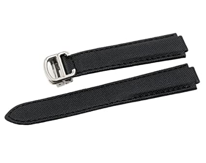 5ddb7404372 Canvas   Leather Watch Band Strap Replacement With18mm  20mm Fits for Cartier  Ballon Bleu(