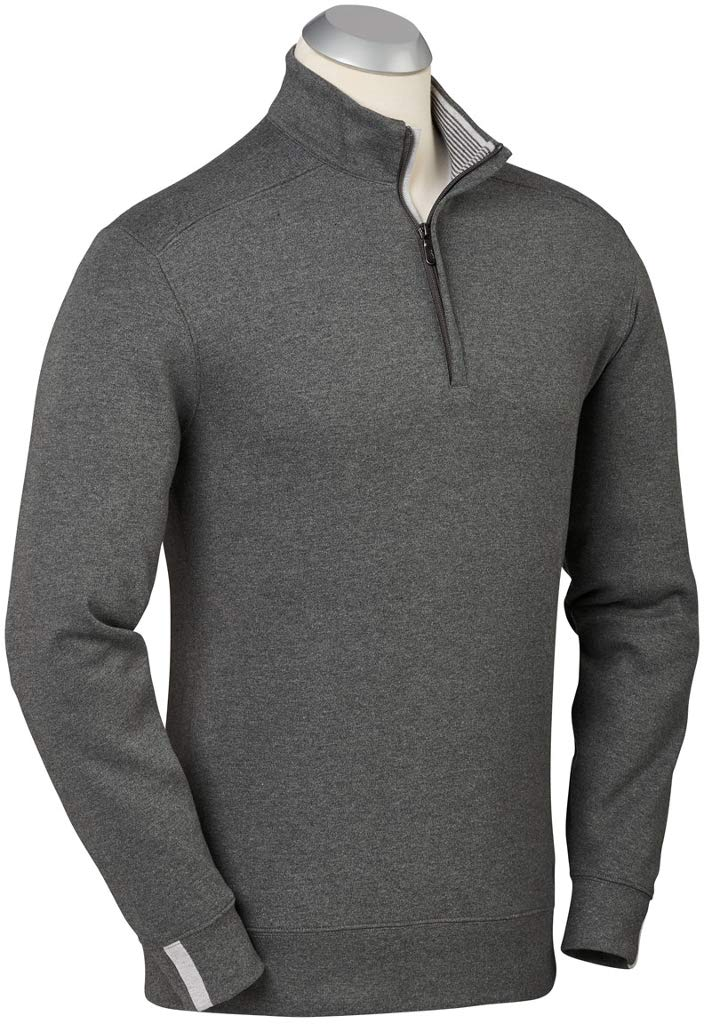Bobby Jones Leaderboard 1/4 Zip Pullover Charcoal Heather XXX-Large by Bobby Jones