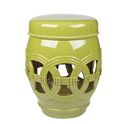 Abbyson Living Garden Stool, Green Ceramic