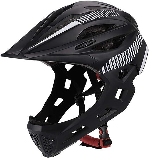 YAJAN-helmet Niños Casco de Bicicleta,con Protectores de Barbilla ...