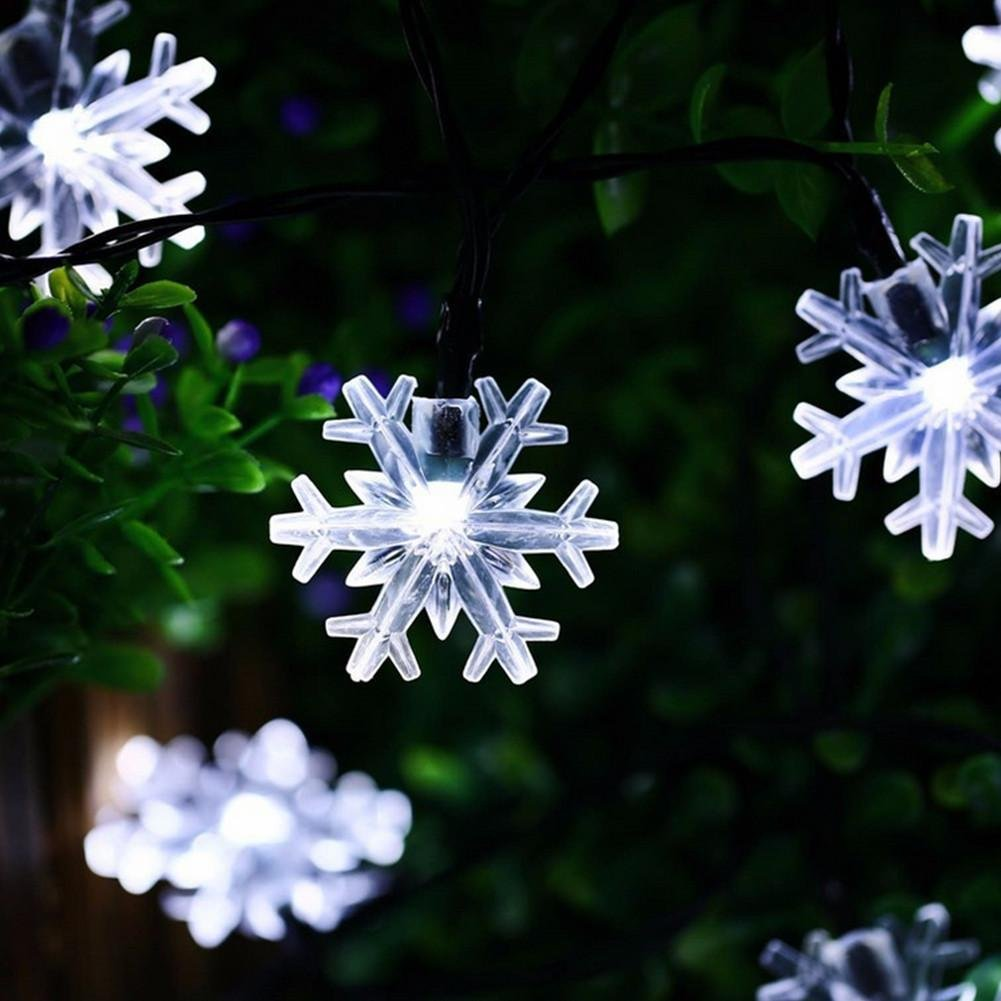 20 heads led snowflake Wedding decoration Solar energy color light by DMMSS (Image #3)
