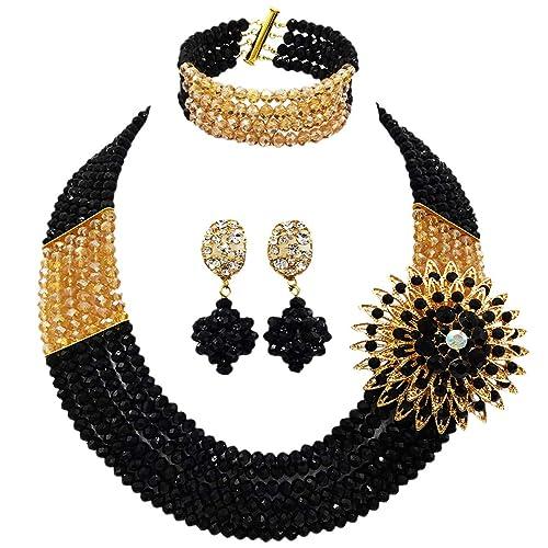 Amazon.com: custome collar hecho a mano 6 filas Nigeria ...