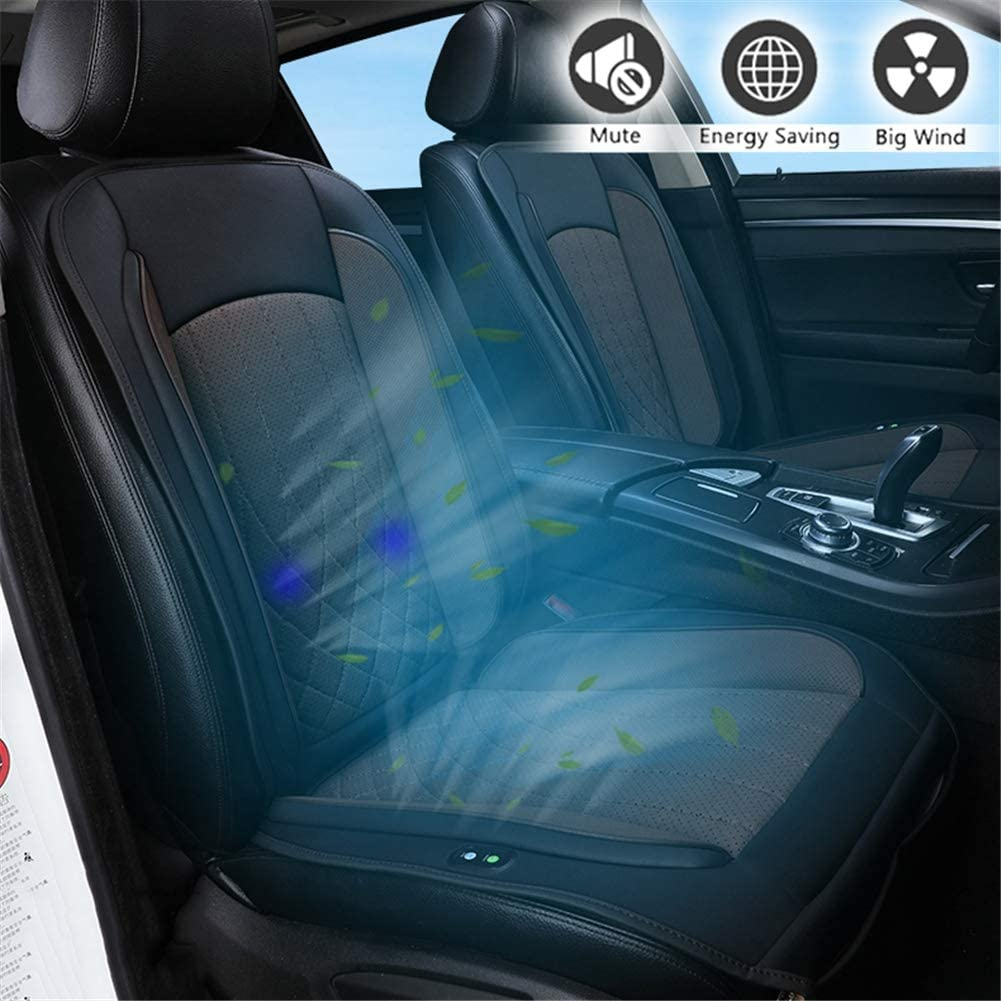 HIMACar Cooling Massage Chair Pad,12V Car Smart Seat Cushion Car Seat Cooler Cooling for Summer,Vibrating Massage for Driving for Car Home Office Chair All Season Use,Brown
