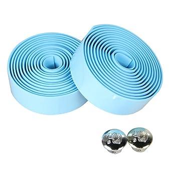 PENVEAT 2 piezas de cinta de corcho para manillar de bicicleta de ...