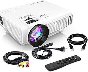[Latest Upgrade] 4500Lumens Mini Projector, Full HD 1080P 170