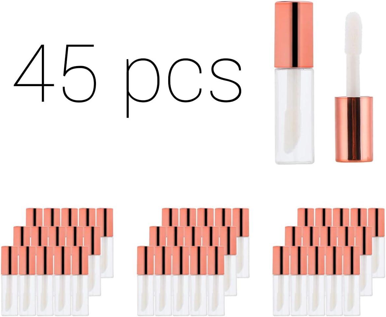 1.2ML Contenedores de tubo de brillo de labios vacíos Mini botella de brillo de labios reutilizable y recargable Cuerpo transparente para cosméticos ...