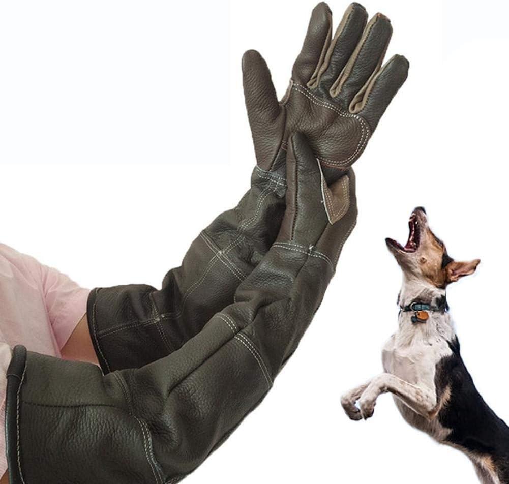 Guantes antimordeduras de seguridad para morder, de piel extra larga para mascotas, para atrapar perros, gatos, reptiles animales.