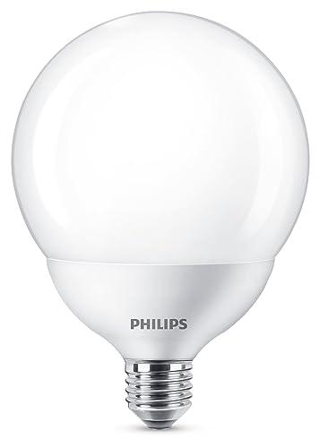 Philips LED bombilla forma globo, consumo de 18W equivalente a 120 W de una bombilla