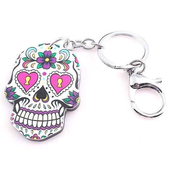 KUSTOM FACTORY Porte CLES Skull MEXICAIN Noir - Llavero ...