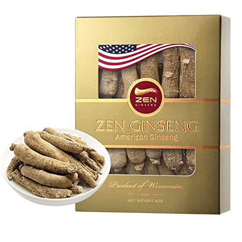 American Wisconsin Ginseng Root Super Long Jumbo 4oz box Performance Mental Health for Men Women