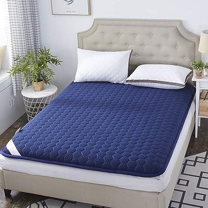 HAOLY Tatami Piso colchón,Protector Antideslizante,Espesar el sobrecolchón, Esponja Dormitorio Estudiante Acolchado